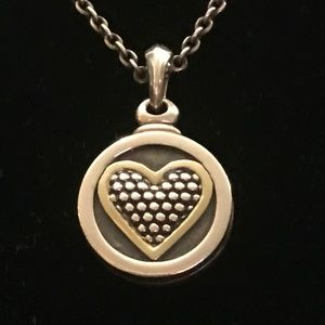 GENTLY USED - LAGOS  HERITAGE CAVIAR HEART LOCKET